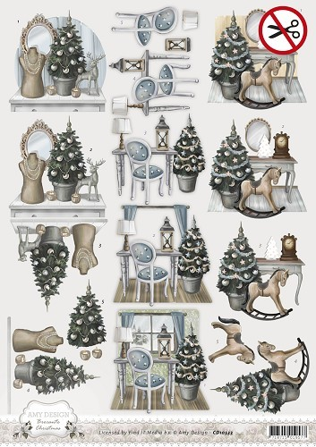 Amy Design - (3D-)Stansvel A4 - Brocante Christmas - Home Decoration - SB10052