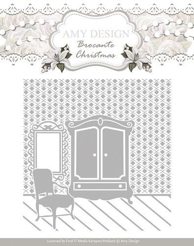 Amy Design - Embossingfolder - Brocante Christmas - ADEMB10003