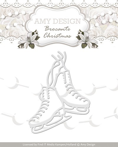 Card Deco - Amy Design - Die - Brocante Christmas - Figure Skates