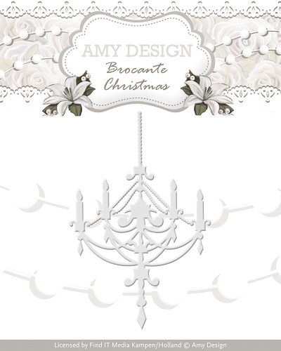 Amy Design - Die - Brocante Christmas - Chandelier - ADD10034