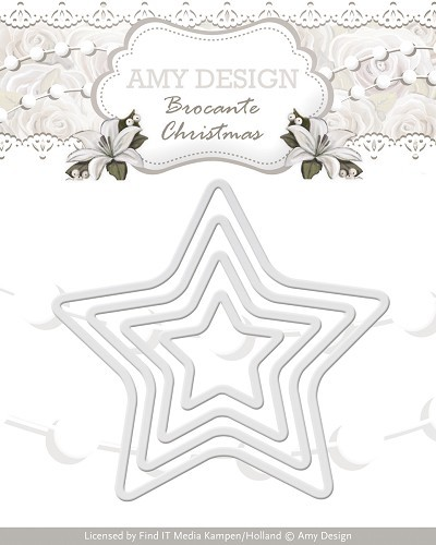 Amy Design - Die - Brocante Christmas - Mini Star Frames - ADD10033