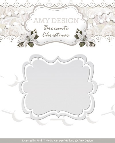 Amy Design - Die - Brocante Christmas - Label - ADD10032