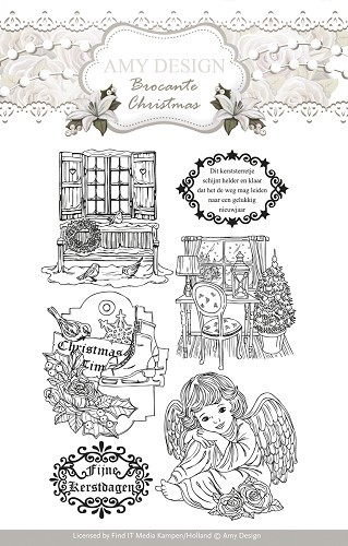 Amy Design - Clearstamp - Brocante Christmas - ADCS10002