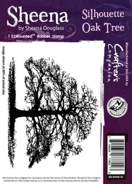Sheena Douglass - Cling Stamp - Silhouette Oak Tree - SD-SOAK-IS