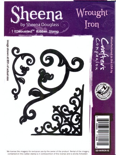 Sheena Douglass - Cling Stamp - Wrought Iron - SD-WIRON-IS