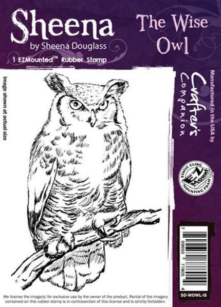 Sheena Douglass - Cling Stamp - The Wise Owl - SD-WOWL-IS