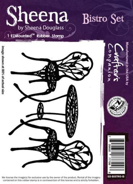 Sheena Douglass - Cling Stamp - Bistro Set - SD-BISTRO-IS
