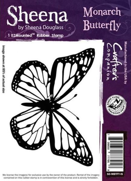 Sheena Douglass - Cling Stamp - Monarch Butterfly - SD-MBTFY-IS