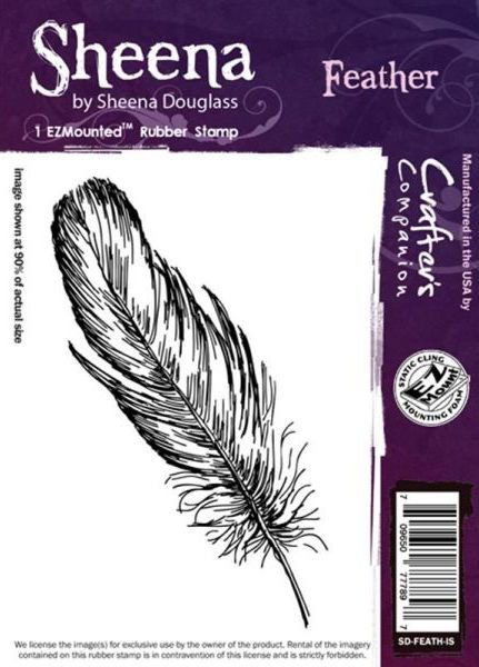 Sheena Douglass - Cling Stamp - Feather - SD-FEATH-IS