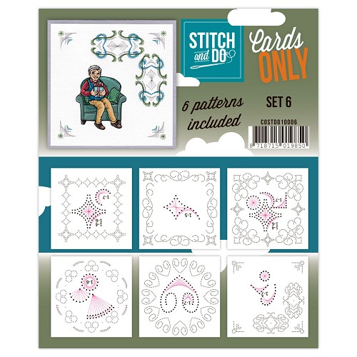 Card Deco - Stitch & Do - Oplegkaarten - Cards only - Set 6 - COSTDO10006