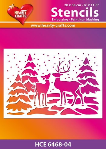 Hearty Crafts - Maskingstencil - Deer - HCE6468-04