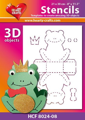 Hearty Crafts - Design Stencil - Frog - HCF8024-08