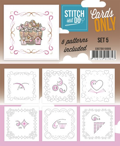 Card Deco - Stitch & Do - Oplegkaarten - Cards only - Set 5 - COSTDO10005