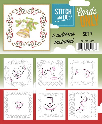 Card Deco - Stitch & Do - Oplegkaarten - Cards only - Set 7 - COSTDO10007