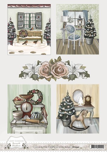 Card Deco - Amy Design - 3D-knipvel A4 - Brocante Christmas - Pictures