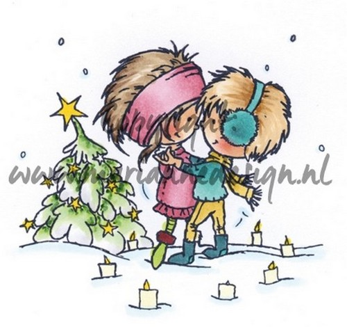 Marianne Design - Don & Daisy - Clearstamp - A Christmas Romance - DDS3354