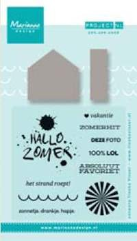 Marianne Design - Project NL - Stamp & stencil - Zon, zee, strand - PL1514