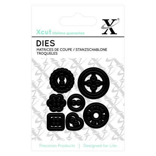 Docrafts - Xcut - Die - Mini - Buttons