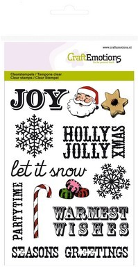 CraftEmotions - Clearstamp - Sweet Vintage Christmas - Christmas Text (UK) - 130502/1232