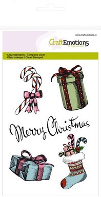 CraftEmotions - Clearstamp - Sweet Vintage Christmas - Merry Christmas - Gifts - 130502/1231
