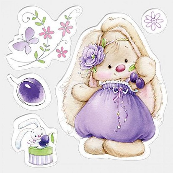ScrapBerry`s - Clearstamp - Summer Joy - Bunny and Plums - SCB4902007