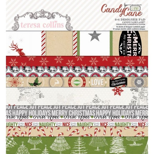 Teresa Collins - Paperpack - Candy Cane Lane - CCL110
