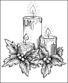 Dixi Craft - Clearstamp - Christmas Candle - STAMP0044