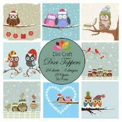 Dixi Craft - Paperpack - Winter Owls Color - ET0249