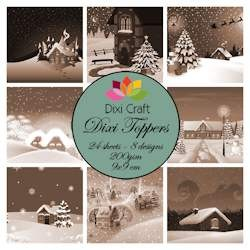 Dixi Craft - Paperpack - Christmas Village Sepia - ET0256