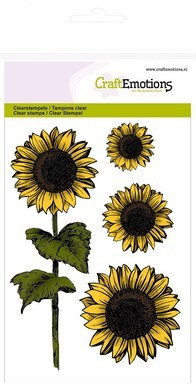 CraftEmotions - Clearstamp - Autumn Woods - Sunflowers - 130501/1213