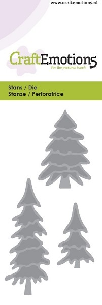 CraftEmotions - Die - Home for Christmas - Pine Trees - 115633/0132