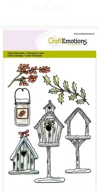 CraftEmotions - Clearstamp - Home for Christmas - Birdhouses - 130501/1222