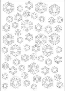 Joy! crafts - Embossing-stencil - Background - Snowflakes - 6002/0619
