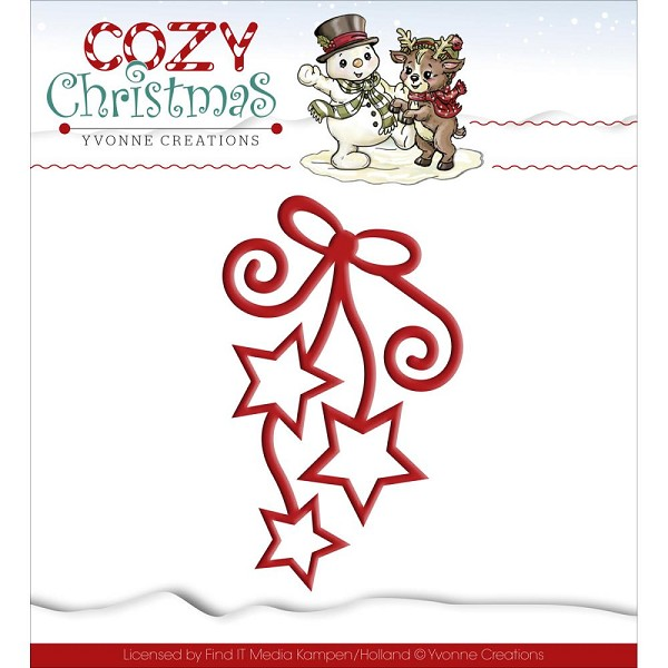 Yvonne Creations - Die - Cozy Christmas - Hanging Stars - YCD10039
