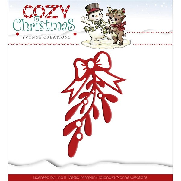 Card Deco - Yvonne Creations - Die - Cozy Christmas - Mistletoe