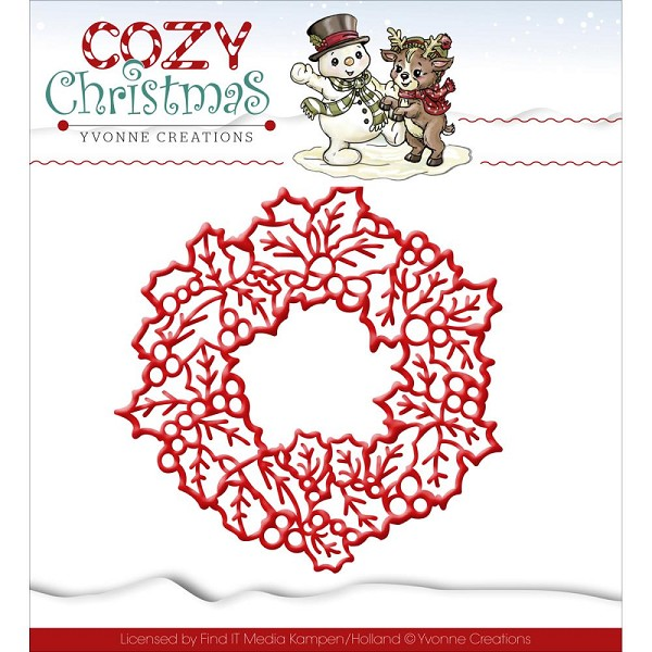 Card Deco - Yvonne Creations - Die - Cozy Christmas - Wreath