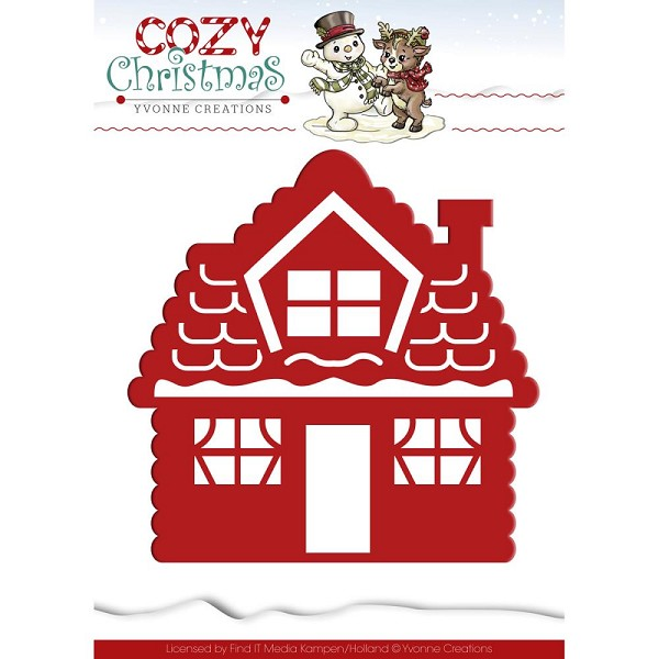 Card Deco - Yvonne Creations - Die - Cozy Christmas - Gingerbread House