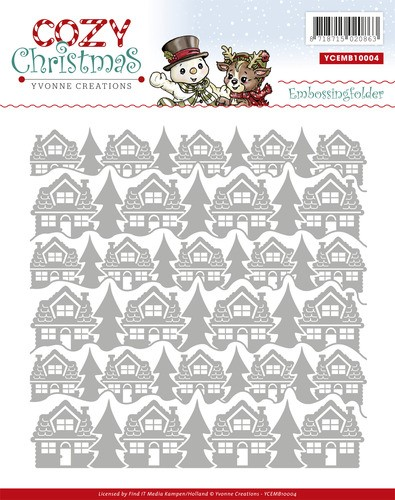 Yvonne Creations - Embossingfolder - Cozy Christmas - YCEMB10004