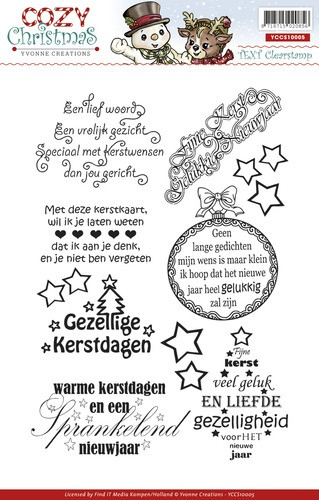 Yvonne Creations - Clearstamp - Cozy Christmas - Tekst - YCCS10005