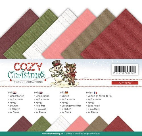 Yvonne Creations - Linnenpakket - 148 x 210mm (A5) - Cozy Christmas - YC-A5-10007