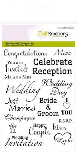 CraftEmotions - Clearstamp - Wedding - Tekst (ENG) - 130501/1153