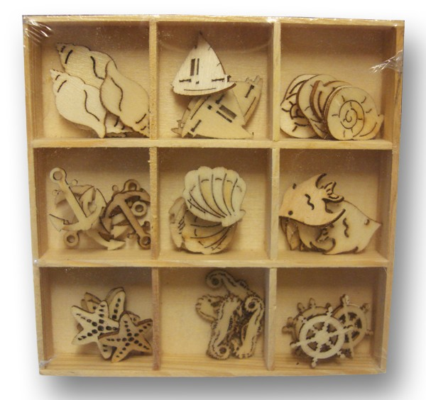 Crafts-Too - Wooden Ornaments - Sealife - CT23466