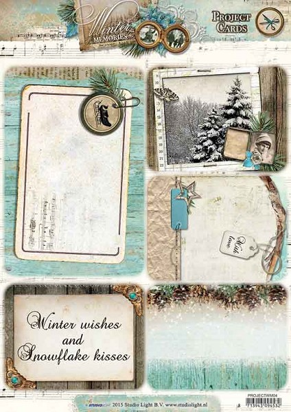 Studio Light - Oplegkaarten - Winter Memories - PROJECTWM04