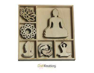 CraftEmotions - Wooden Ornaments - Happiness - Buddha - 811500/0181