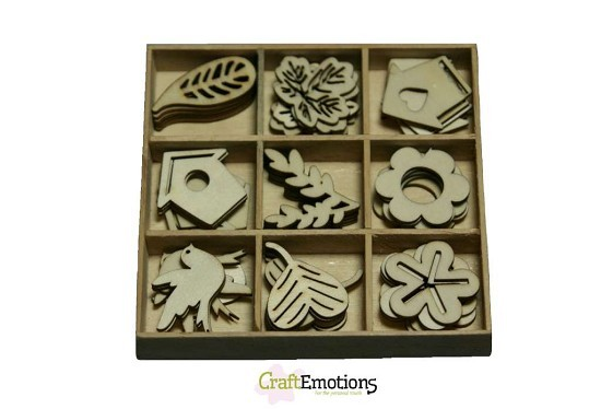 CraftEmotions - Wooden Ornaments - Garden - 811500/0202