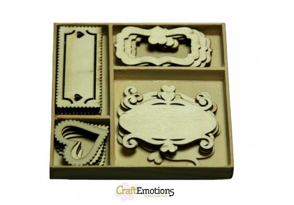 CraftEmotions - Wooden Ornaments - Fantasy frames - 811500/0205