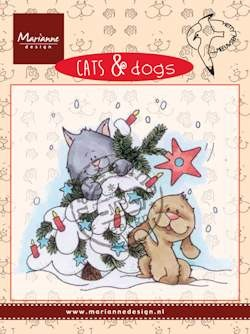 Marianne Design - Hetty Meeuwsen - Clearstamp - Cats & Dogs - Tree decorating - CD3504