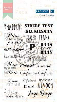 Marianne Design - Project NL - Clearstamp - Heren (ouder) - Tekst (NL) - PL1519