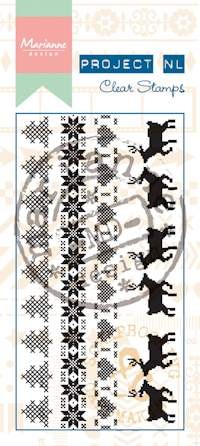Marianne Design - Project NL - Clearstamp - Border Nordic - PL1521