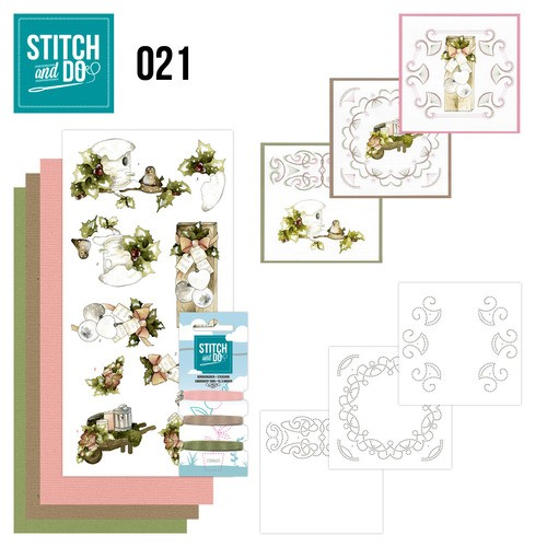 Card Deco - Kaartenpakket - Stitch & Do No. 21 - Rustic Christmas - STDO021